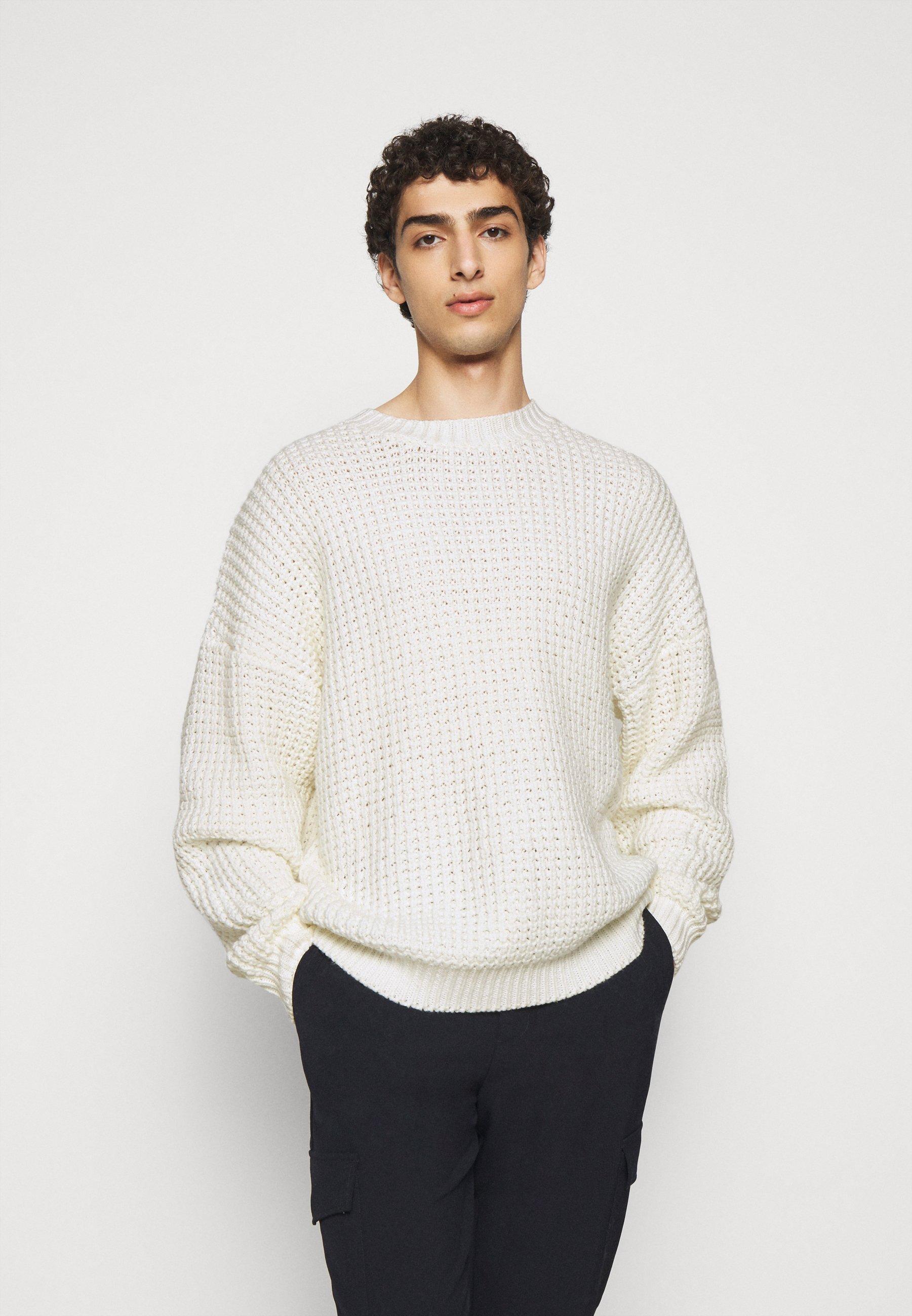 Vente D\'Usine Vêtements homme Holzweiler GABELS  SWEATER Pullover ecru 9822ZWYN