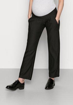 MLMINNA PINSTRIPED PANTS - Trousers - black/white