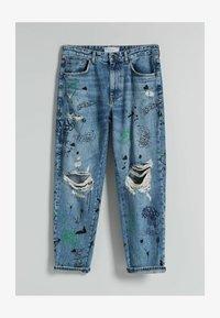 Bershka - STRAIGHT - Relaxed fit jeans - blue denim - 4