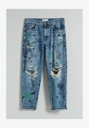 STRAIGHT - Relaxed fit jeans - blue denim