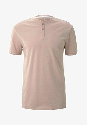 MIT STREHKRAGEN - T-shirt basic - soft peach skin