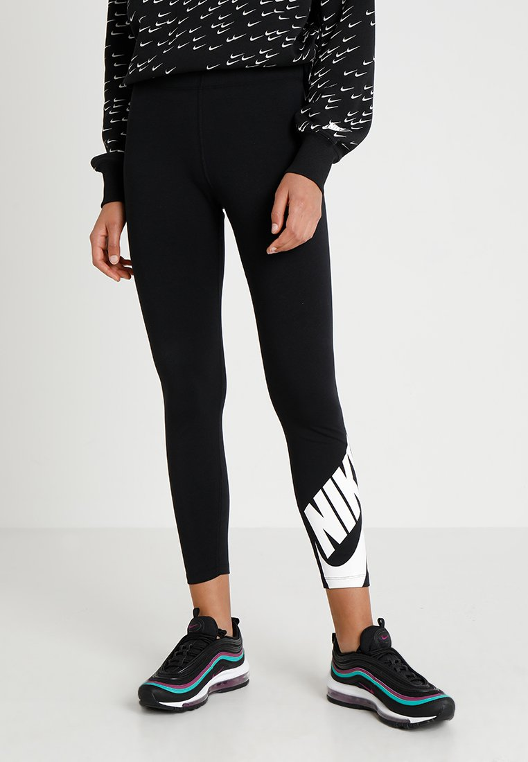 Nike Sportswear - NSW LEGASEE 7/8 FUTURA - Leggings - black/white