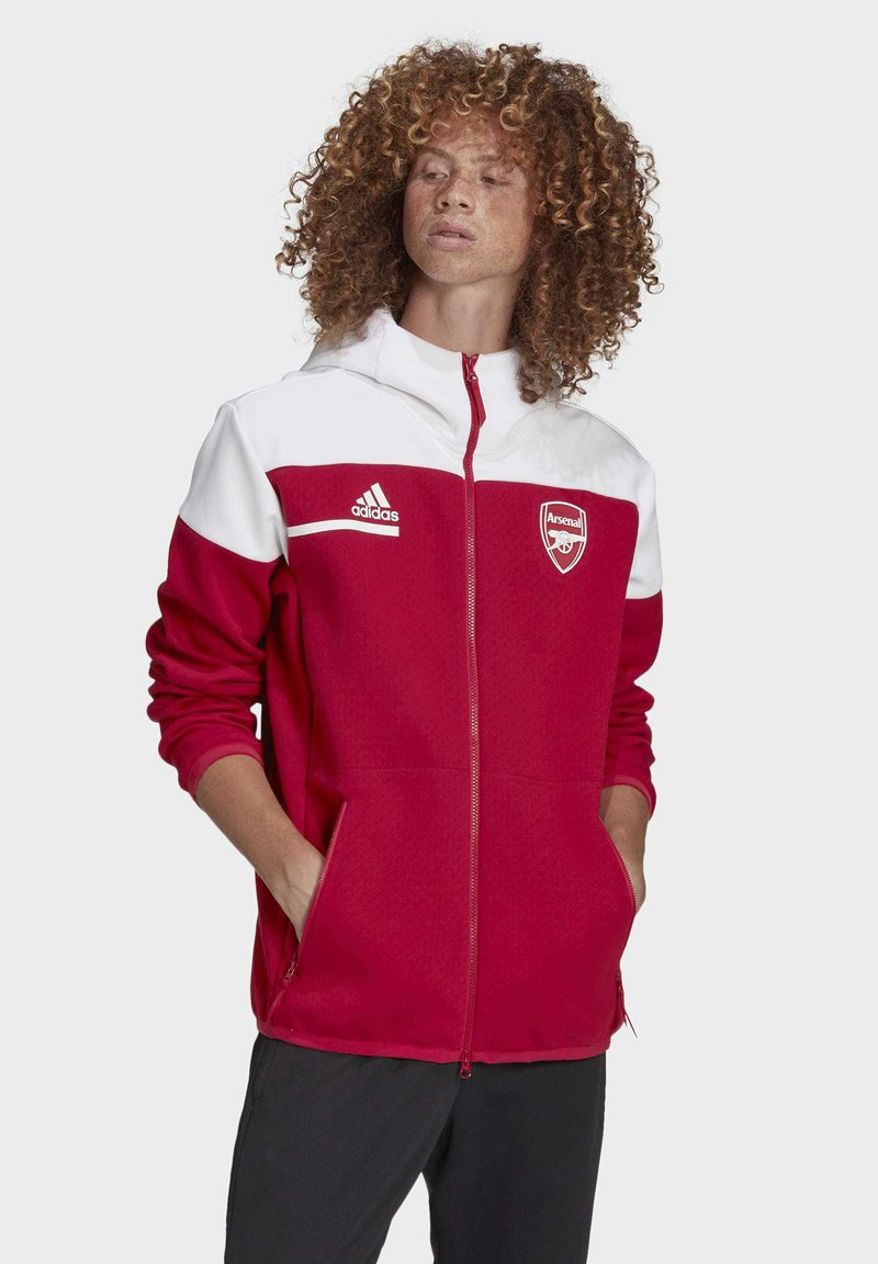adidas Performance - Z.N.E. ARSENAL FC SPORTS FOOTBALL JACKET - Träningsjacka - actmar/white