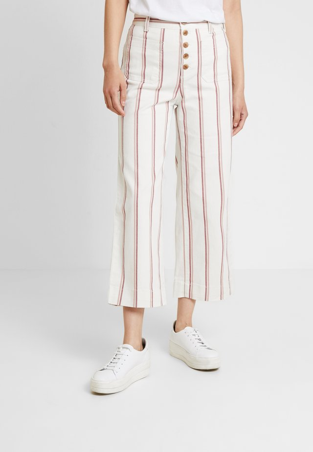 WIDE LEG CHINO SEAFARER STRIPE - Spodnie materiałowe - neutral