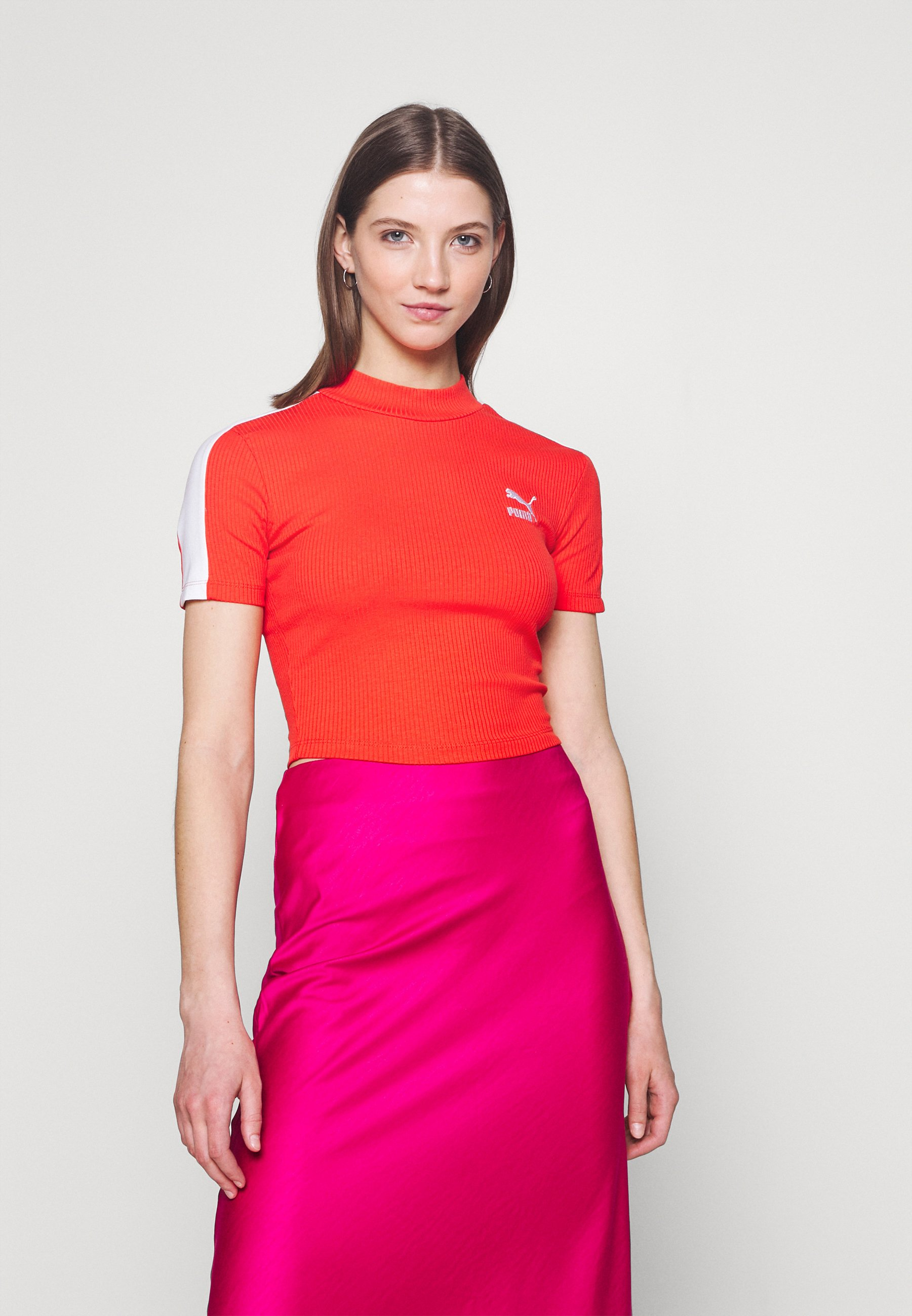 Damen CLASSICS MOCK NECK - T-Shirt basic