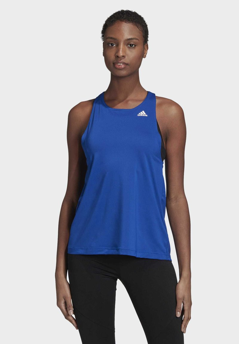adidas Performance - DESIGNED TO MOVE ALLOVER PRINT TANK TOP - Top - blue