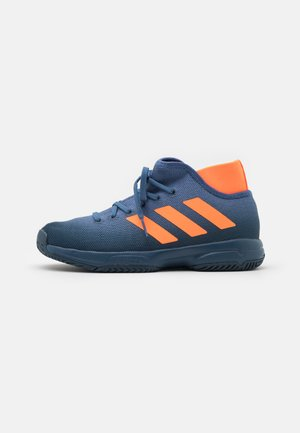 JR UNISEX - Multicourt tennis shoes - crew navy/orange/crew blue