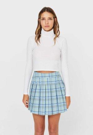 KARIERTER - A-snit nederdel/ A-formede nederdele - blue
