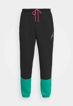 Tracksuit bottoms - black/neptune green/watermelon/barely volt