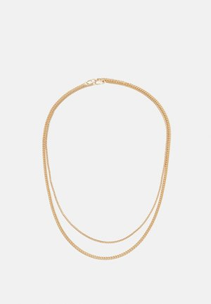 TWO ROW SNAKE CHAIN NECKLACE 2 PACK - Collana - gold-coloured