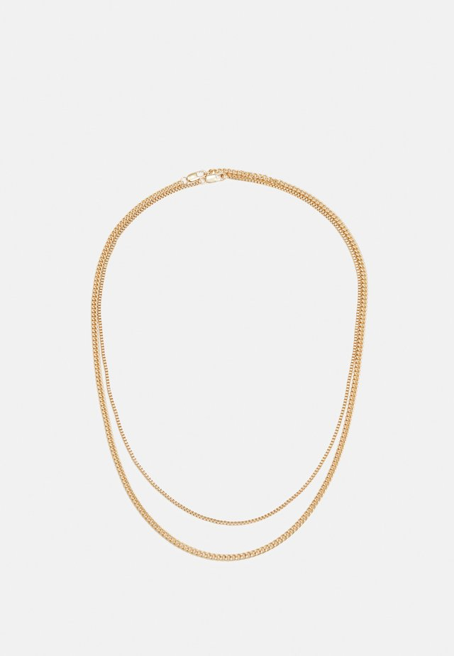 TWO ROW SNAKE CHAIN NECKLACE 2 PACK - Náhrdelník - gold-coloured