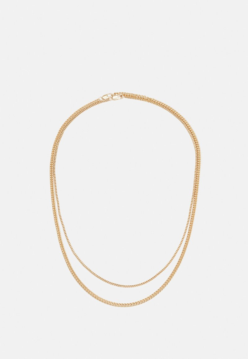 Topman - TWO ROW SNAKE CHAIN NECKLACE 2 PACK - Náhrdelník - gold-coloured