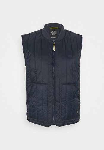 QUILTED GILET - Väst - navy