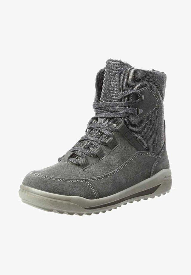 Lace-up ankle boots - grau