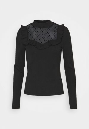 ONLSOPHIA FLOUNCE - Long sleeved top - black