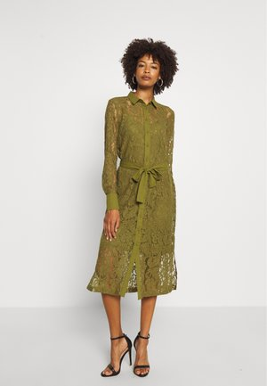 DRESS - Shirt dress - leaf green