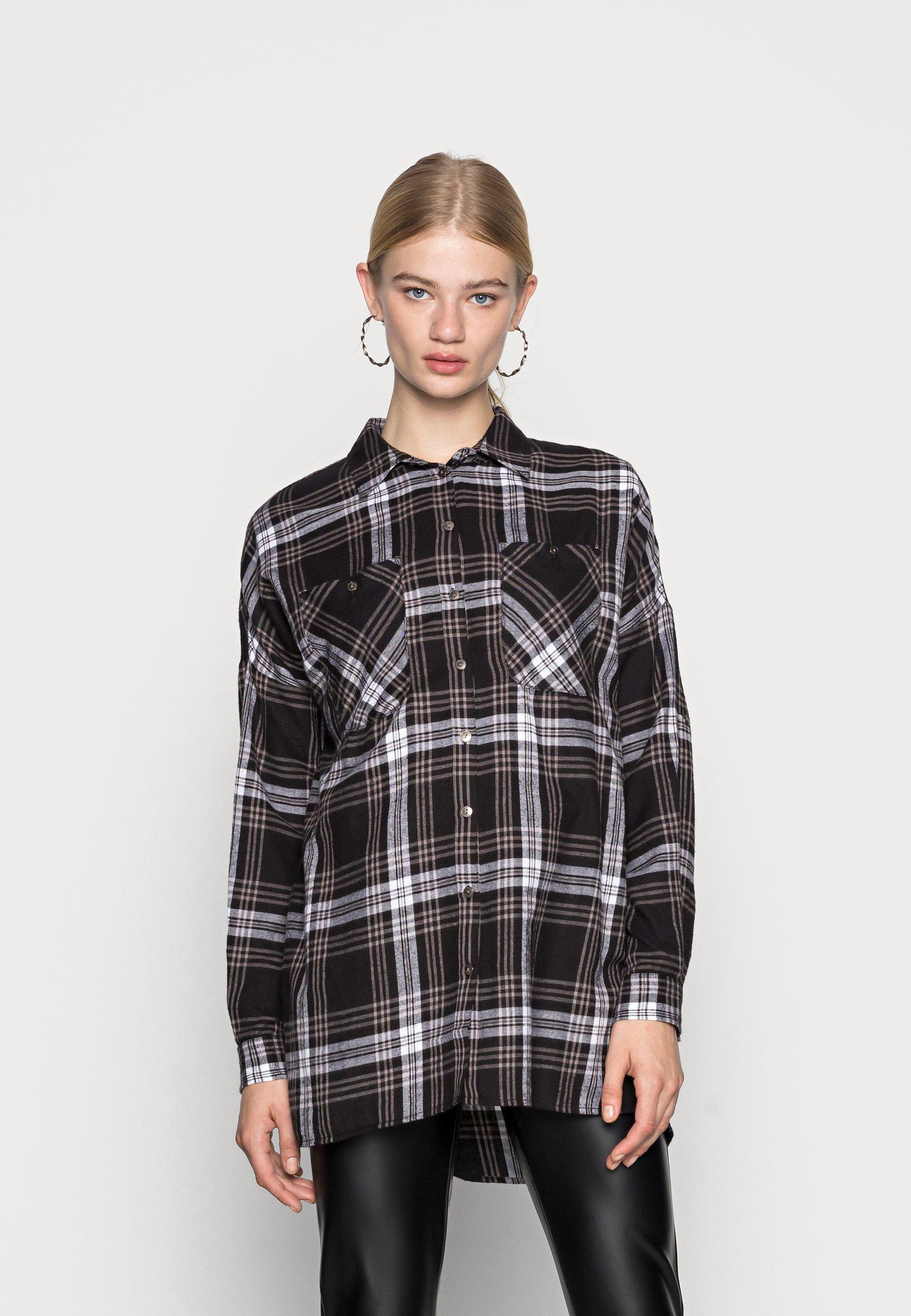 Women NMERIK WINTER OVERSIZE SHIRT - Button-down blouse
