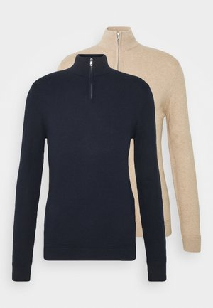 2 PACK - Jumper - dark blue/beige