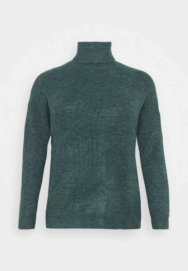 FINE JUMPER - Strikkegenser - deep emerald