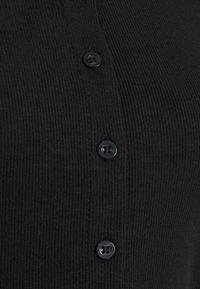 Cotton On - CORI CROP BUTTON THROUGH - Cardigan - black - 2