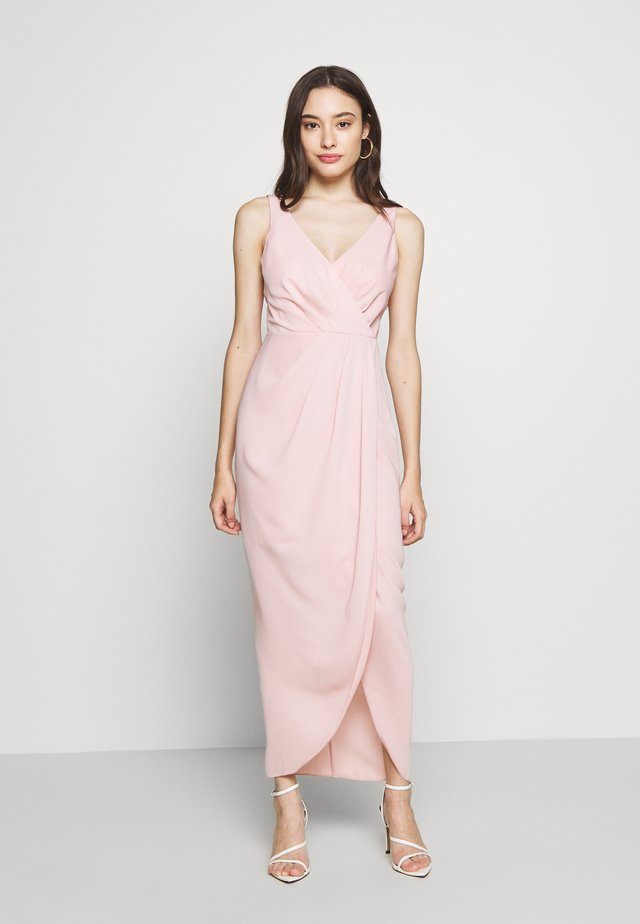 VICTORIA WRAP DRESS PETITE - Gallakjole - blush