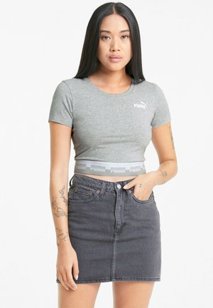 AMPLIFIED SLIM TEE - T-shirt imprimé - light gray heather