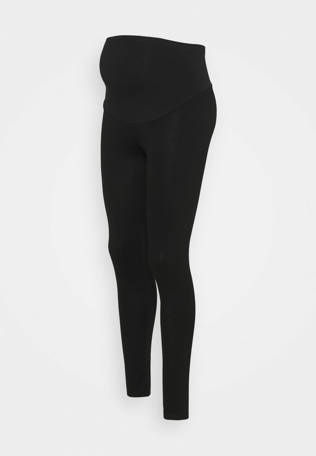 PONTE OVERBUMP - Leggings - Trousers - black