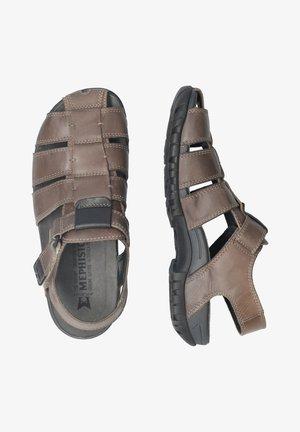BASILE - Walking sandals - pewter