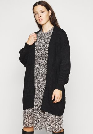 VMTUFURN BALLOON OPEN CARDIGAN - Gilet - black