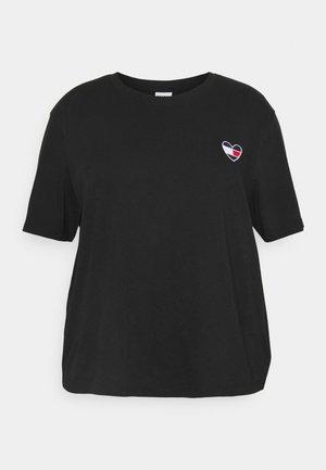 HOMESPUN HEART TEE - T-shirts med print - black