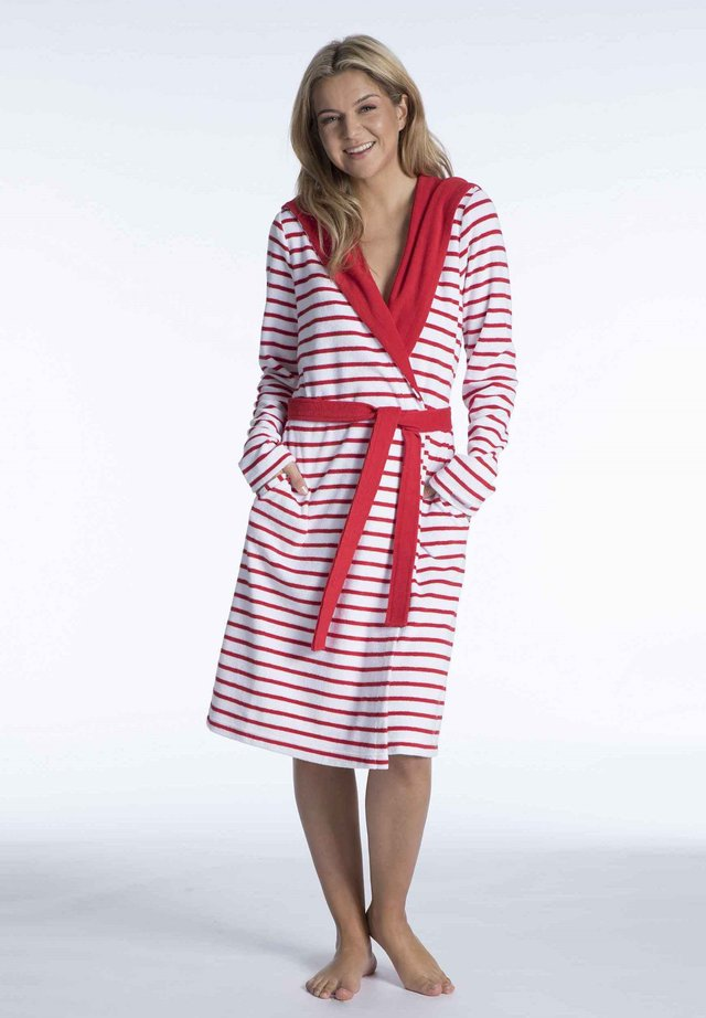Dressing gown - red-white