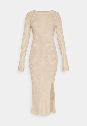 TWISTED BACK DRESS - Jumper dress - beige