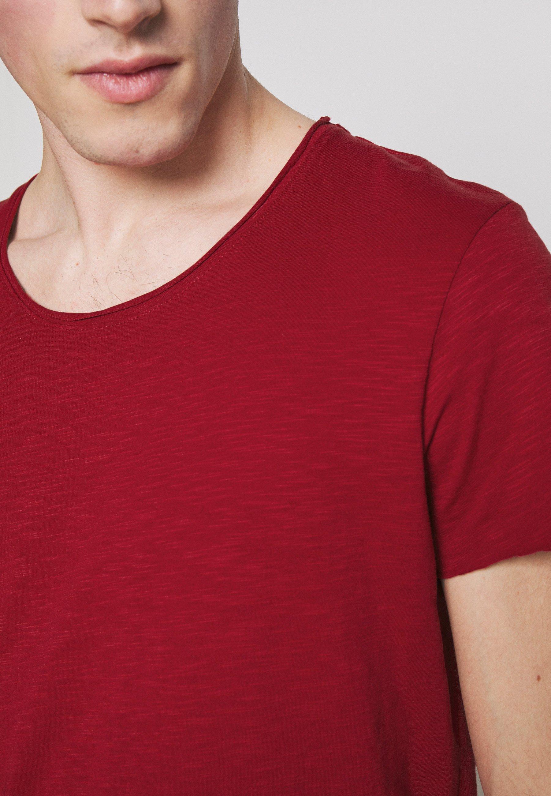 Jack & Jones JJEBAS TEE - Basic T-shirt - rio red W8mYv