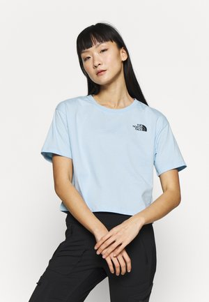 CROPPED SIMPLE DOME TEE - T-shirts print - blue