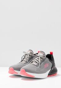 Skechers Sport - SKECH-AIR STRATUS - Slip-ons - gray/black/pink - 4