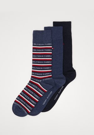 MEN SOCK LOGO GIFTBOX 3 PACK - Skarpety - dark blue/red