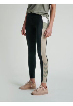 SHARNI MID WAIST - Leggings - black