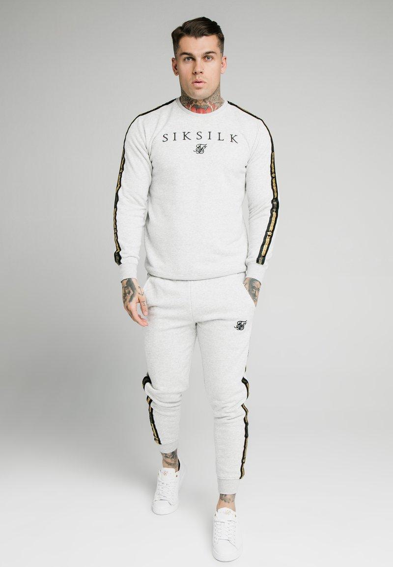 SIKSILK - PRESTIGE CREW - Sweatshirts - grey marl