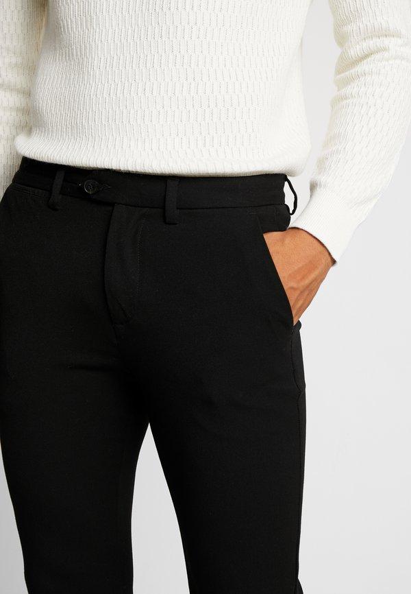 Jack & Jones PREMIUM JJIMARCO JJCONNOR - Spodnie materiałowe - black/czarny Odzież Męska AYBG