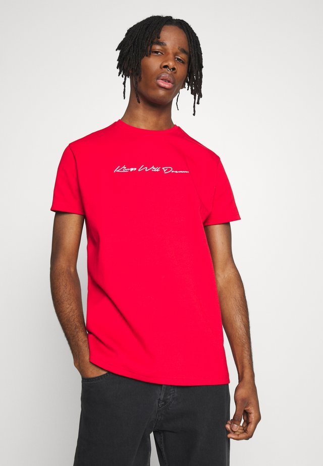 KINGS WILL DREAM SIGNATURE RED - T-shirt med print - red