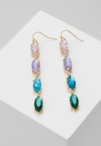ONLY - ONLCALA LONG EARRING - Øredobber - gold-coloured/blush/clear/aqua - 0