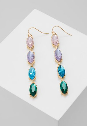 ONLCALA LONG EARRING - Orecchini - gold-coloured/blush/clear/aqua