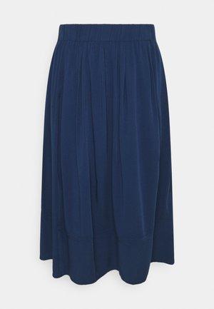 KIA MIDI - A-line skirt - dark iris