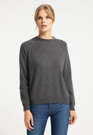 Sweter - dunkelgrau melange