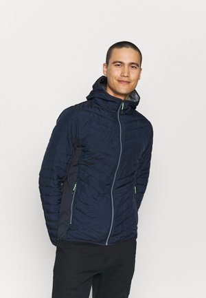 MAN FIX HOOD JACKET - Outdoor jacket - blue