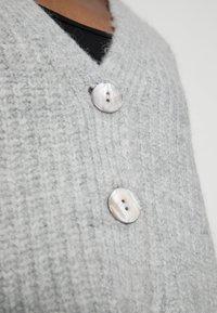 Zign - WOOL BLEND JUMPER - Cardigan - mottled grey - 4
