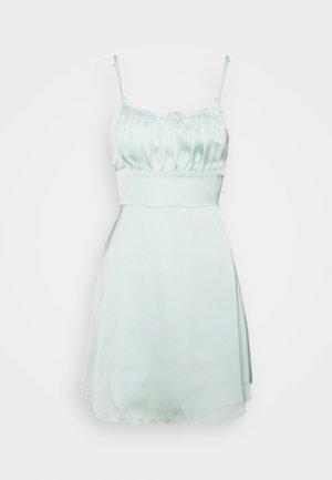 SUMMER SHORT DRESS - Vestito estivo - green solid