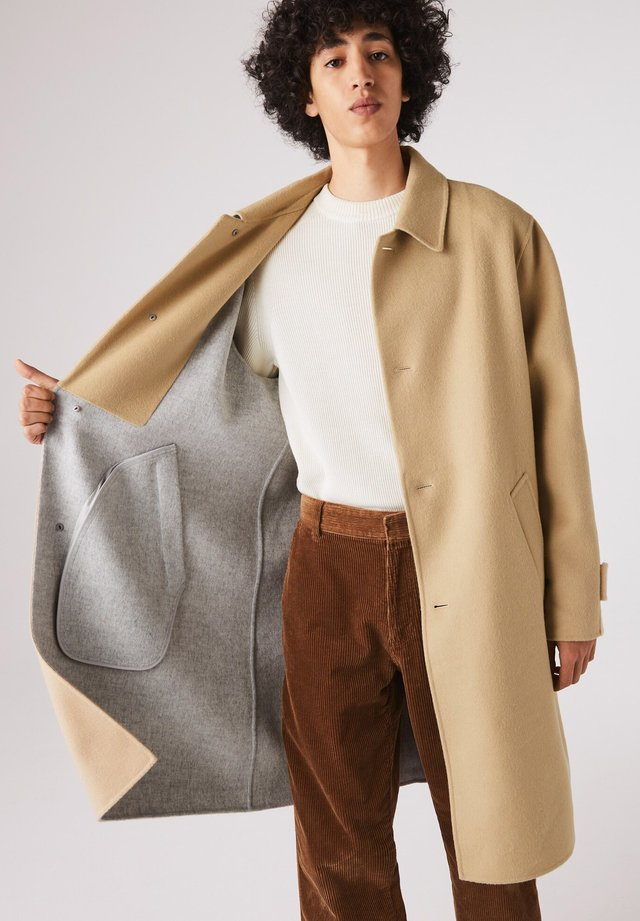 BH1970 - Manteau classique - beige / gris chine