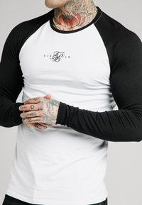 SIKSILK - SQUARE HEM TEE - Longsleeve - black/white - 4
