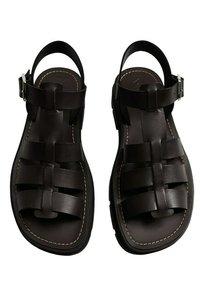 Mango - ROMA - Platform sandals - noir - 3